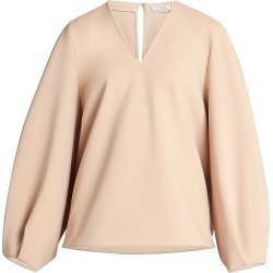 Nina Ricci Women's Full-Sleeve Crepe Top - Nude - Size 6 found on MODAPINS from Saks Fifth Avenue for USD $535.50
