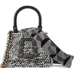 Kooreloo Women's Petite Trapezoid Tweed Satchel - Black found on MODAPINS from Saks Fifth Avenue for USD $395.00