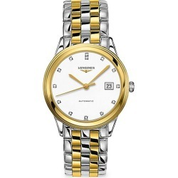 Longines Men's Flagship Stainless Steel Diamond Bracelet Watch - White found on MODAPINS from Saks Fifth Avenue for USD $2075.00