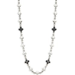 Sterling Silver & Black Crystal Necklace found on Bargain Bro Philippines from Saks Fifth Avenue OFF 5TH for $330.00