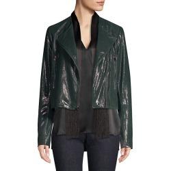 Julia Pine Grove Pebble Shine Leather Jacket