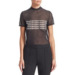 Alexander Wang Women's Sheer Graphic Tee - Black - Size XS found on MODAPINS from LinkShare USA for USD $250.00