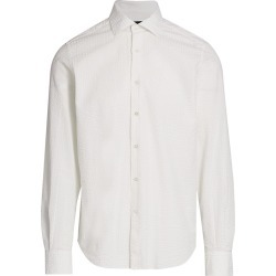 Saks Fifth Avenue Men's COLLECTION Seersucker Woven Sport Shirt - White - Size XXL found on Bargain Bro from Saks Fifth Avenue for USD $90.29