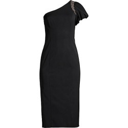Aidan Mattox Women's One-Shoulder Beaded Midi Dress - Black - Size 10 found on MODAPINS from Saks Fifth Avenue for USD $146.00