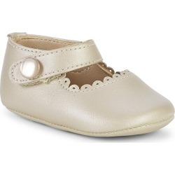 Elephantito Baby's Scallop Leather Mary Jane Flats - Champagne - Size 0 (Newborn) found on Bargain Bro from Saks Fifth Avenue for USD $30.02