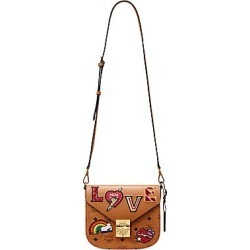 d8d9b975334 MCM Women's Small Patricia Love Patch Crossbody Bag - Cognac found on  MODAPINS from Saks Fifth