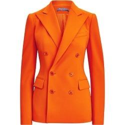 Ralph Lauren Collection Women's Camden Double Breasted Wool-Blend Jacket - Orange - Size 8