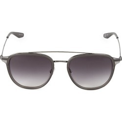 Barton Perreira Men's Courtier 55MM Round Navigator Sunglasses - Grey found on MODAPINS from Saks Fifth Avenue for USD $590.00