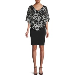 Abstract-Print Capelet Dress found on Bargain Bro Philippines from The Bay for $19.96