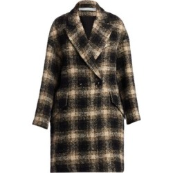 Karsh Plaid Double-Breasted Coat