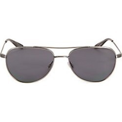 Barton Perreira Men's 55MM Aerial Pewter Aviator Sunglasses - Silver found on MODAPINS from Saks Fifth Avenue for USD $470.00