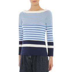 Alberta Ferretti Women's Stripe Sweater - Fantasy Ivory - Size 8 found on MODAPINS from Saks Fifth Avenue for USD $475.00