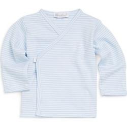 Kissy Kissy Baby Boy's Striped Cotton Tee - Light Blue - Size 0-3 Months