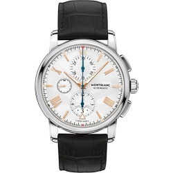 Montblanc Men's 4810 Stainless Steel & Matte Alligator Strap Automatic Chronograph Watch - Stainless Steel