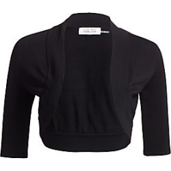 Teri Jon by Rickie Freeman Women's Knit Shrug - Black - Size XL found on MODAPINS from Saks Fifth Avenue for USD $170.00