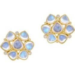 Royal Blue Moonstone, Diamond & 18K Yellow Gold Cluster Earrings found on Bargain Bro India from Saks Fifth Avenue AU for $3707.83