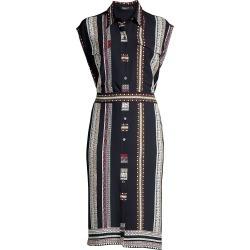 Derek Lam Women's Sleeveless Silk Belted Shirtdress - Navy - Size 18 found on MODAPINS from Saks Fifth Avenue for USD $595.99