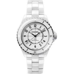 J12 White Ceramic & Stainless Steel Calibre 12.1 Bracelet Watch