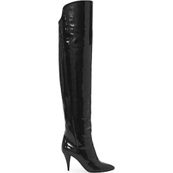 Saint Laurent Women's Kiki Over-The-Knee Patent Leather Boots - Nero - Size 41 (11) found on Bargain Bro Philippines from Saks Fifth Avenue for $1495.00