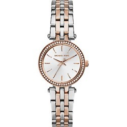 Michael Kors Women's Darci Petite Pavé Two-Tone Stainless Steel Bracelet Watch - Rose Gold Silver found on Bargain Bro India from Saks Fifth Avenue for $225.00
