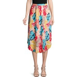 Printed Pleated Midi Skirt found on Bargain Bro India from Saks Fifth Avenue OFF 5TH for $44.99
