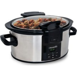 Lift and Serve Locking Hinged Lid Programmable Slow Cooker