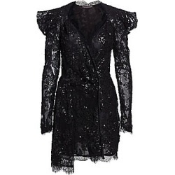 Amen Women's Embroidery Lace Long Sleeve Dress - Black - Size 48 (12) found on MODAPINS from Saks Fifth Avenue for USD $1285.00