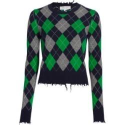Check Argyle Cashmere Pullover