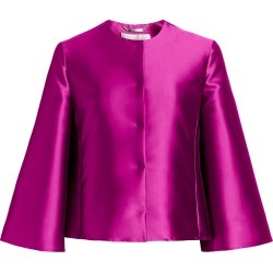 Alberta Ferretti Women's Mikado Cropped Jacket - Violet - Size 4 found on MODAPINS from Saks Fifth Avenue for USD $472.50