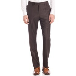 Incotex Men's Benson Sharkskin Dress Pants - Dark Brown - Size 30 found on Bargain Bro Philippines from Saks Fifth Avenue for $440.00