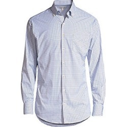 Peter Millar Men's Hugh Tattersall Sport Shirt - White - Size XXL found on Bargain Bro Philippines from Saks Fifth Avenue for $67.50