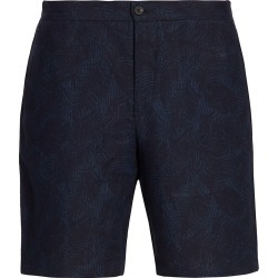 Saks Fifth Avenue Men's COLLECTION Palm-Print Linen Shorts - Navy - Size 30 found on Bargain Bro from Saks Fifth Avenue for USD $112.48