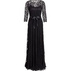 Teri Jon by Rickie Freeman Women's Lace Pintuck Gown - Black - Size 8 found on MODAPINS from Saks Fifth Avenue for USD $640.00