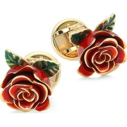 DOLCE & GABBANA Women's 18K Yellow Gold Ruby Rose Cufflinks - Gold found on Bargain Bro Philippines from Saks Fifth Avenue for $4950.00
