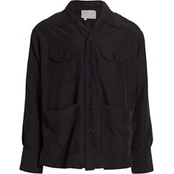 Greg Lauren Men's Souvenir Boxy Studio Overshirt - Black - Size 1 (Small) found on MODAPINS from Saks Fifth Avenue for USD $975.00