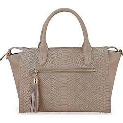 Gigi New York Women's Grace Python-Embossed Leather Satchel - Stone found on MODAPINS from Saks Fifth Avenue for USD $495.00