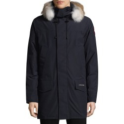 Canada Goose Men's Langford Coyote Fur-Trim Down Parka - Admiral Blue - Size XS found on MODAPINS from Saks Fifth Avenue for USD $1150.00