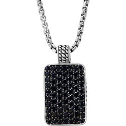 Sterling Silver & Black Spinel Pendant Necklace found on Bargain Bro Philippines from Saks Fifth Avenue OFF 5TH for $416.00