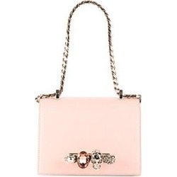 Alexander McQueen Women's Small Jeweled Leather Satchel - Black found on MODAPINS from Saks Fifth Avenue for USD $1990.00