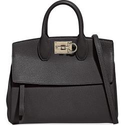 Salvatore Ferragamo Women's Medium Studio Leather Top Handle Bag - Nero found on Bargain Bro India from Saks Fifth Avenue for $2300.00
