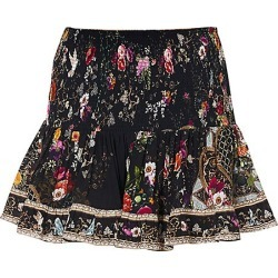 Camilla Women's Floral Shirred Flounce Mini Skirt - Mirror Mirror - Size Large found on MODAPINS from Saks Fifth Avenue for USD $399.00
