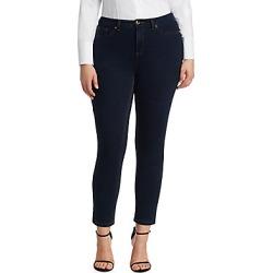 Ashley Graham x Marina Rinaldi Women's Idillio Jersey Denim Slim Jeans - Dark Navy - Size 10W found on MODAPINS from Saks Fifth Avenue for USD $290.00
