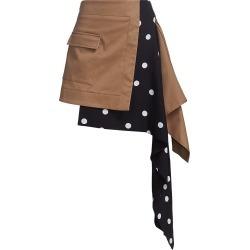 Monse Women's Cascade Trench Polka Dot Skirt - Dark Khaki Multi - Size 4 found on MODAPINS from Saks Fifth Avenue for USD $890.00