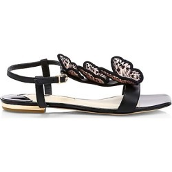 Sophia Webster Women's Riva Butterfly Leather Espadrille Wedges - Black Nude - Size 35.5 (5.5) found on Bargain Bro Philippines from Saks Fifth Avenue for $475.00
