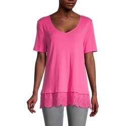 Isla Lace-Trim Top found on MODAPINS from Saks Fifth Avenue OFF 5TH for USD $29.99