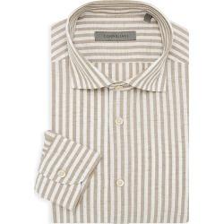 Corneliani Men's Circle Bengal Stripe Dress Shirt - Tan - Size 41 (16) found on MODAPINS from Saks Fifth Avenue for USD $250.00