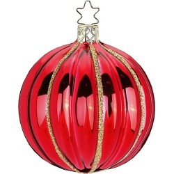 Inge's Christmas Decor Phantasy Glitter Glass Ball Ornament - Red found on Bargain Bro India from Saks Fifth Avenue for $13.00