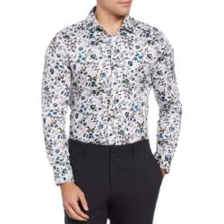 Slim-Fit Floral-Print Shirt found on GamingScroll.com from The Bay for $39.80