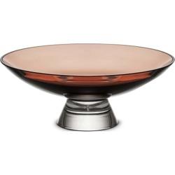 Nude Glass Silhouette Medium Two-Tone Glass Bowl - Caramel