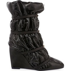 Duvet Studded Leather Wedge Boots found on MODAPINS from Saks Fifth Avenue for USD $399.20